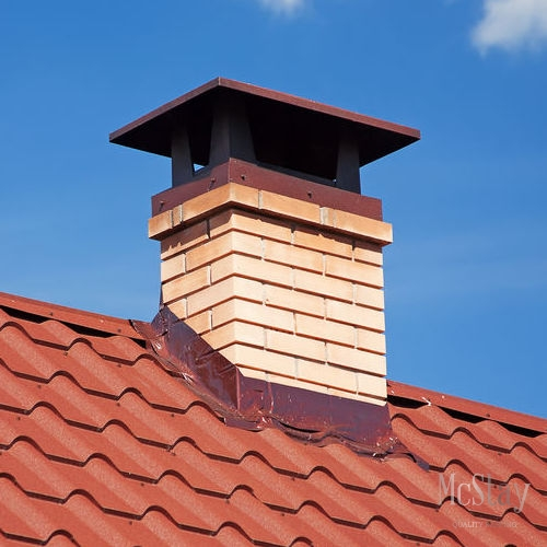 Flashing around chimneys and other vulnerable areas is essential to protect a roof from weathering and water.