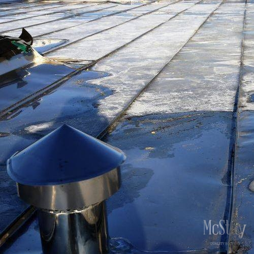 Ponding is a serious problem for commercial roofs that requires repair.