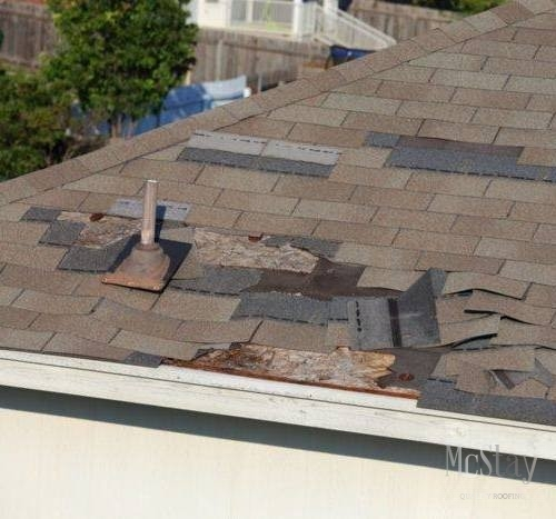Wind can cause serious damage to a roof.
